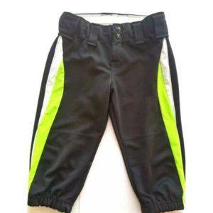 Augusta Sportswear Pants Crop Girls Black Green M